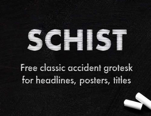 Schist Free Font