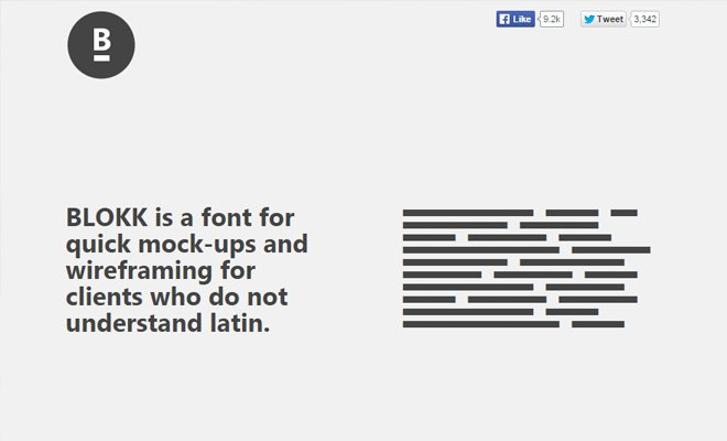 blokk font mockups wireframe typeface free