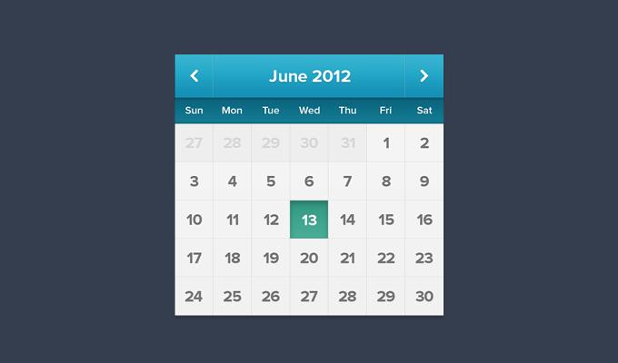 Blue Calendar Free PSD