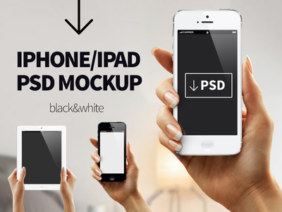 Handheld iPhone & iPad Mockup
