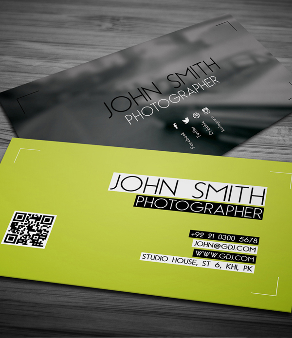 25 free business cards psd templates print ready design idevie free photographer business card psd template reheart Images