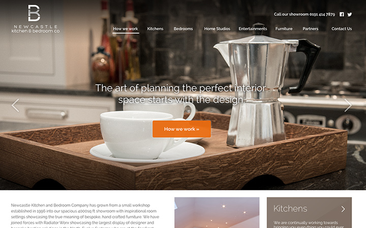 kitchen bedroom company redesign homepage