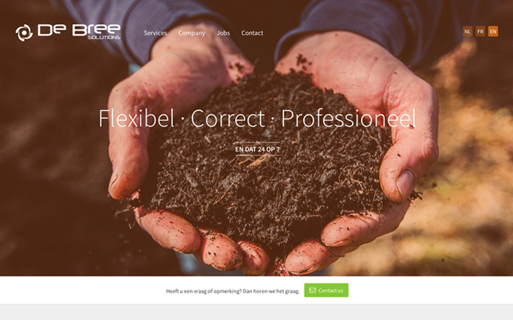 debree landing page design website layout