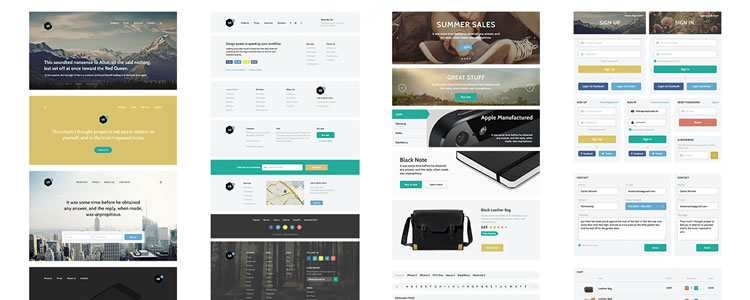 Edge - Customizable Component Based Web UI Kit PSD