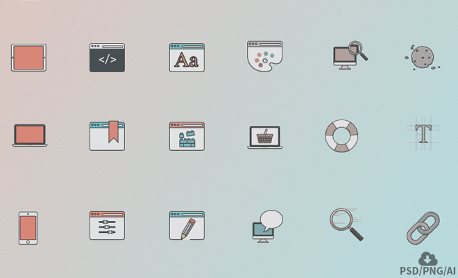 web design iconset