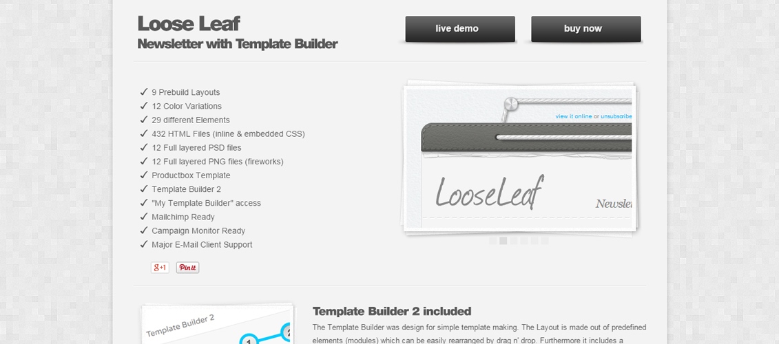 20 FeatureRich Premium Newsletter Templates iDevie – Loose Leaf Template