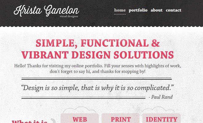 krista ganelon visual designer portfolio