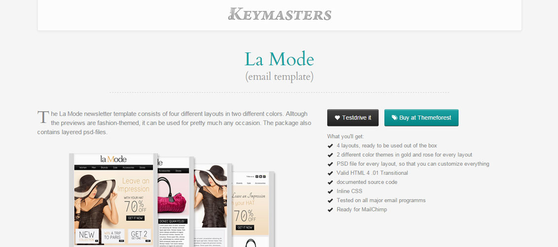 La Mode - email template