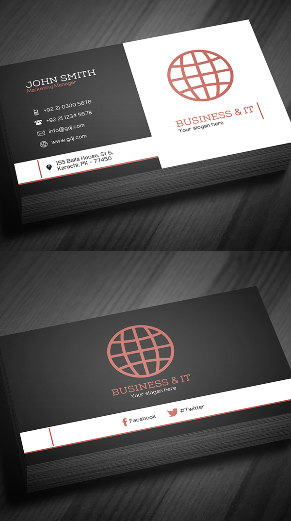 Free Business Cards PSD Templates Print Ready Design IDevie - Business cards psd template