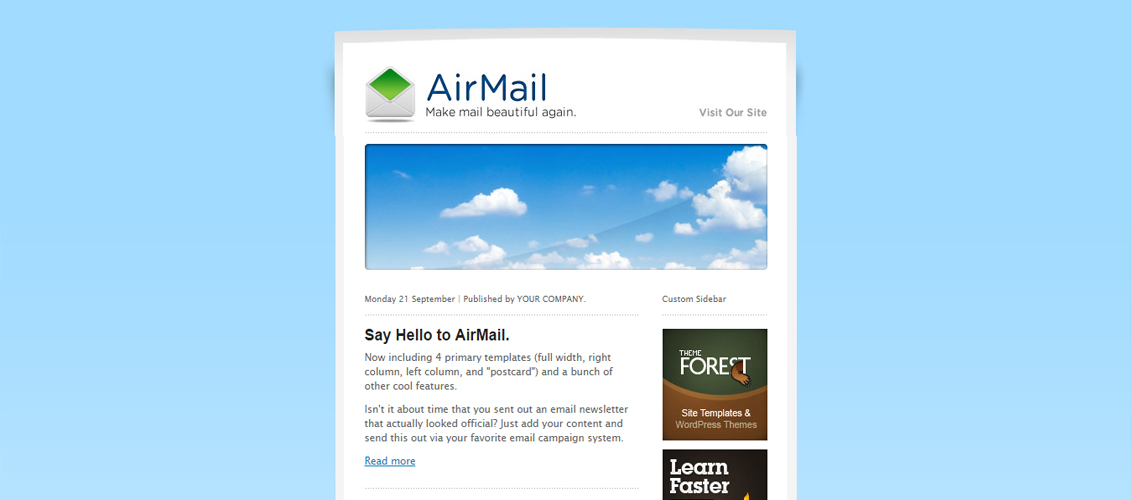 18 mailchimp campaign templates excellent html newsletter templates best of hongkiat