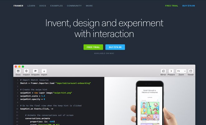 framer open source javascript library website