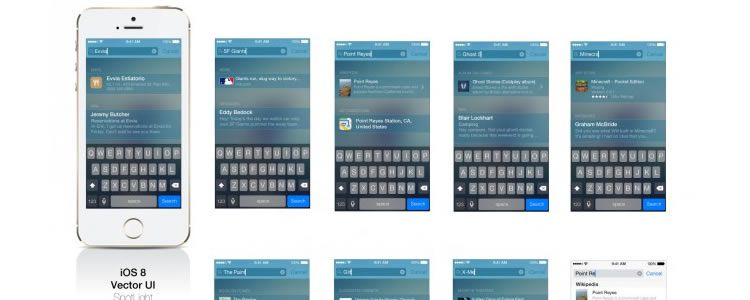 iOS 8 Vector SpotLight UI AI