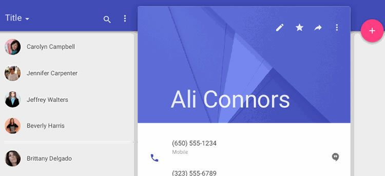 Material Design UI Template & Icons by Kyle Ledbetter