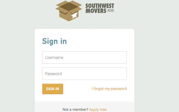 movers login field design interface