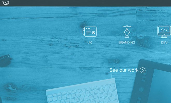 underbelly creative agency website layout