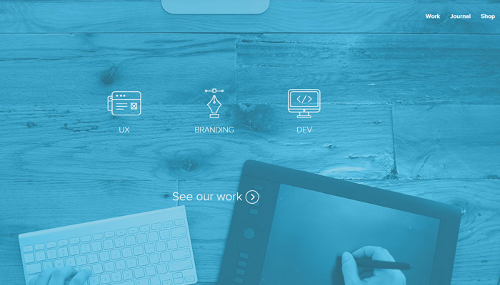 underbelly creative design agency website layout