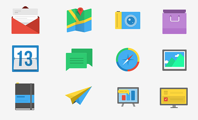 flatified iconset psd freebie download