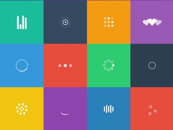 SVG Loaders – Loading icons and small animations built purely in SVG