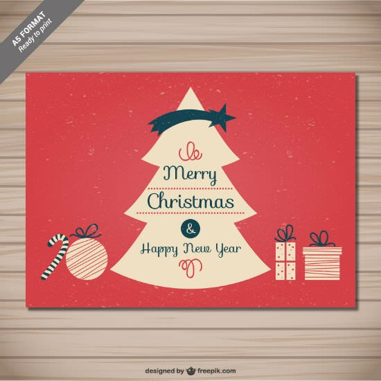 Freebies – 10 Vector Xmas Cards as AI and EPS