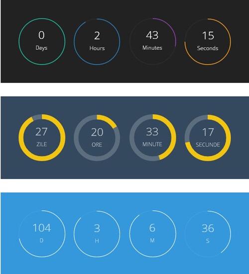 ClassyCountdown – jQuery Plugin to Create Circular Countdowns