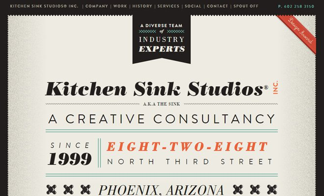 kitchen sink studios website inc layout