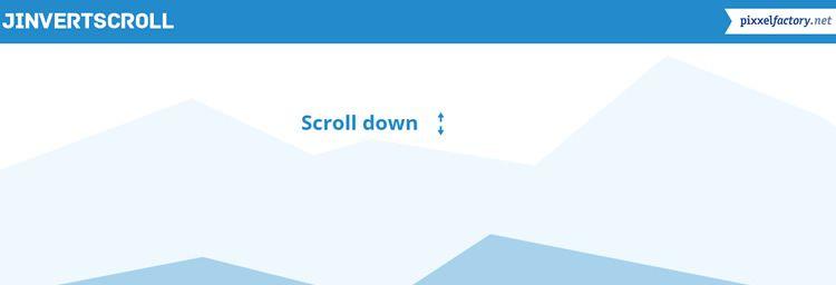 jInvertScroll lightweight plugin horizontal parallax effect