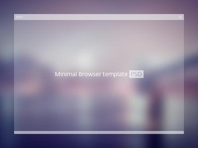 Simple Browser Free PSD