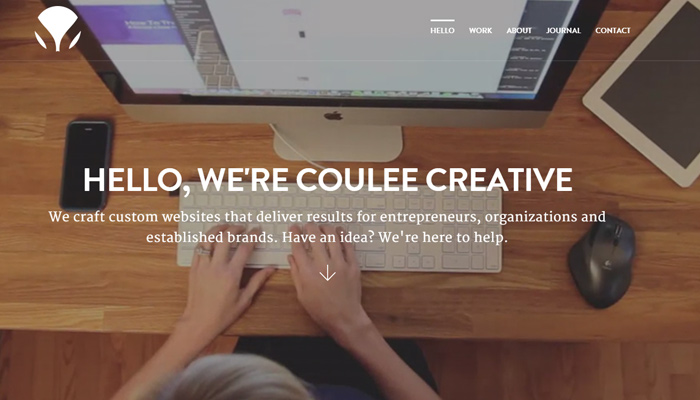 coulee creative homepage background design