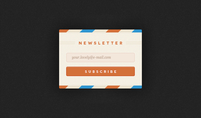 Newsletter Widget Free PSD