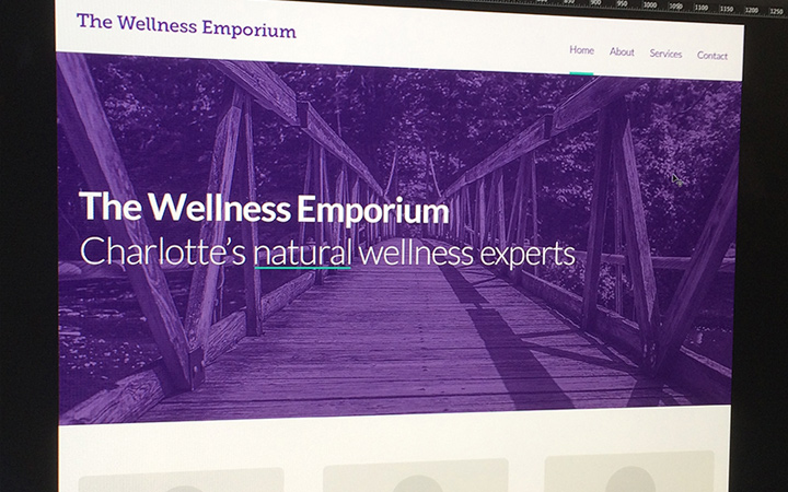 purple layout homepage wellness emporium