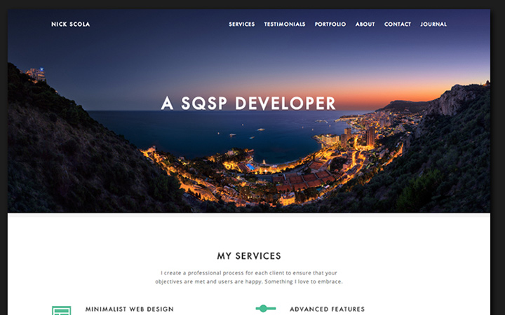 nick scola personal site design