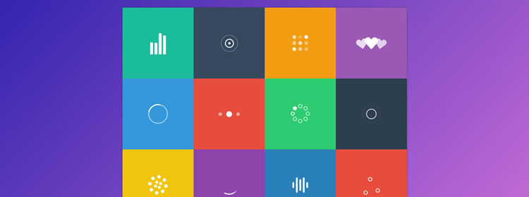 SVG Loaders, a collection of loading icons and small animations built purely in SVG, no CSS or JS