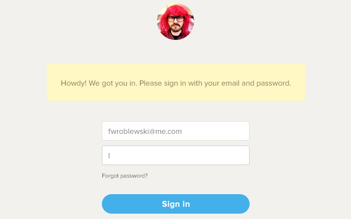 grey simple personal login form design