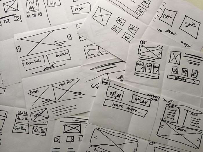 Design Process - Wireframing