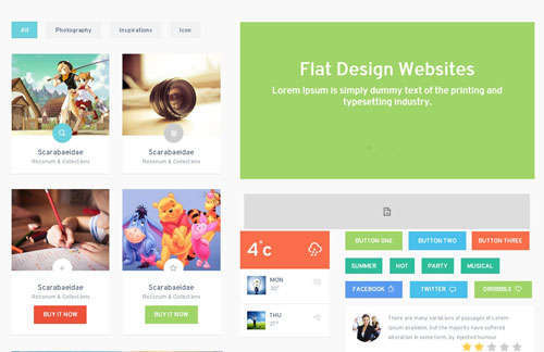 Colorz UI KIT Flat Responsive Web Template