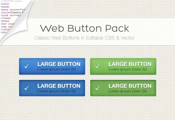 Clear Web Button Pack Free PSD