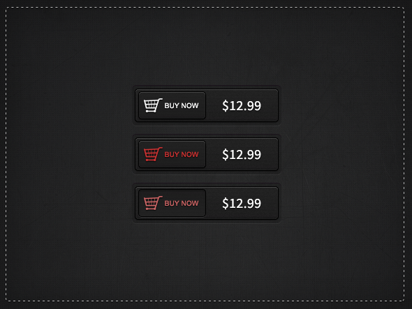 Dark Buy Now Buttons Free PSD