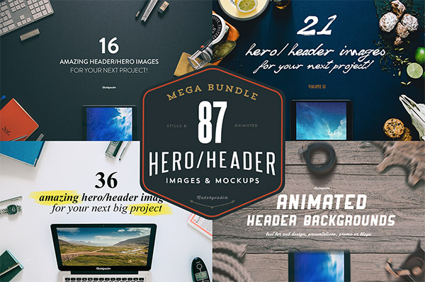 87 Hero/Header Images Mega Bundle