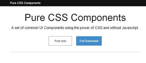 Pure CSS Components
