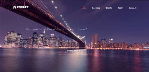 Escape a Corporate Portfolio Flat Responsive Web Template