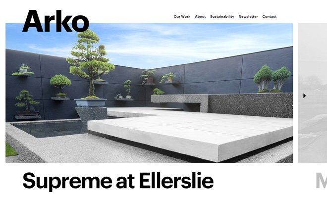 26 inspirational architecture firm website designs idevie for Architectural websites