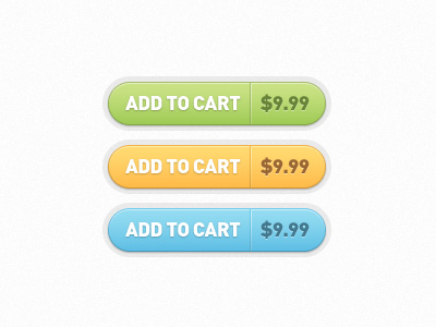Add to Cart Buttons Free PSD