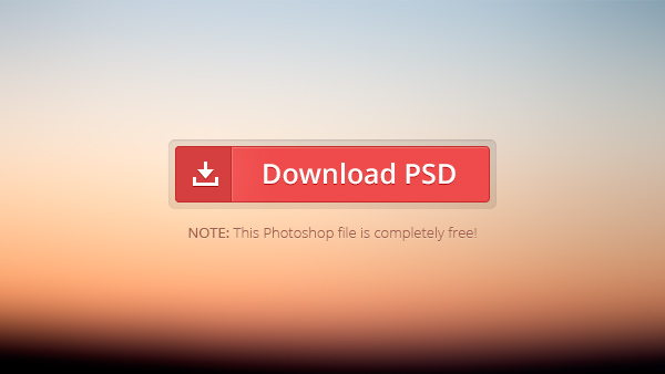 Red Download Button Free PSD