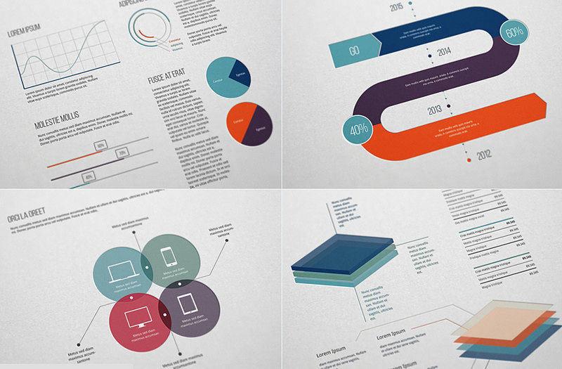 Flat Free Infographic Elements