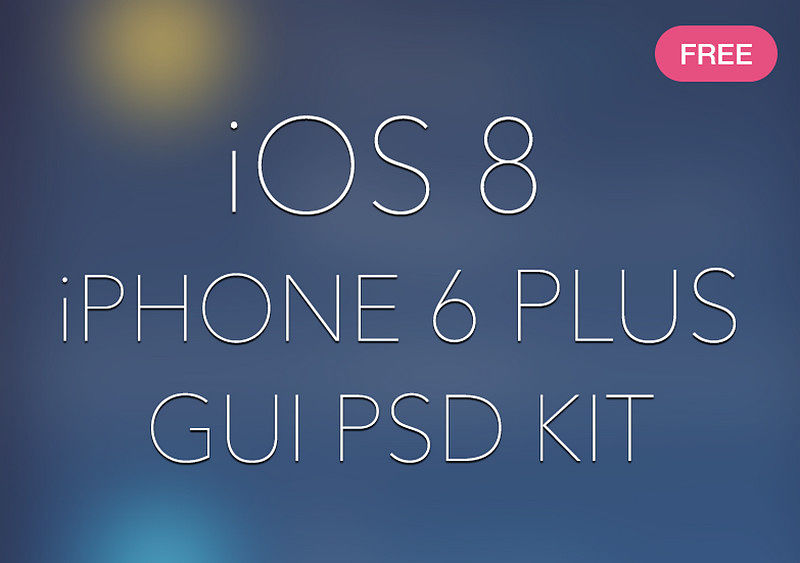 iOS 8 iPhone 6 Plus GUI PSD