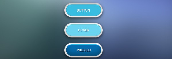 Clean Blue Button Free PSD