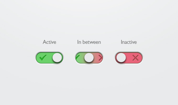 On-Off Button Free PSD