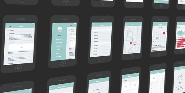 6 free UI kit psd for 2015