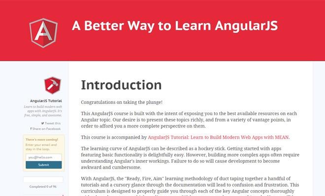 20 Free AngularJS Resources & Tutorials