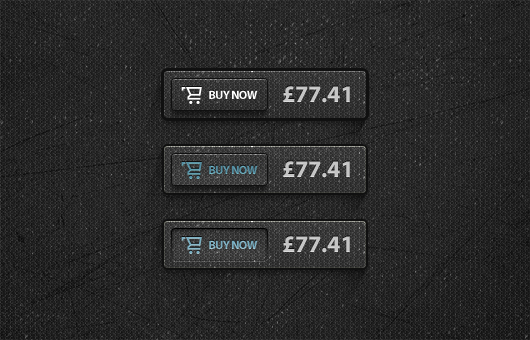 Dark Buy Now Button Free PSD
